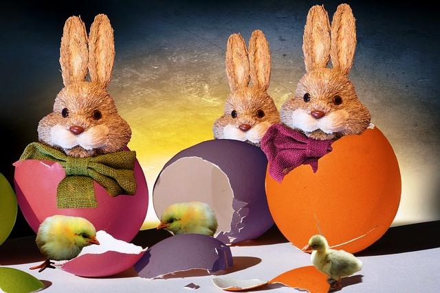 Vorfreude auf Ostern auf dem Petrusplatz