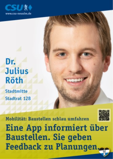 Dr. Julius Röth, Stadtmitte – seine Ziele