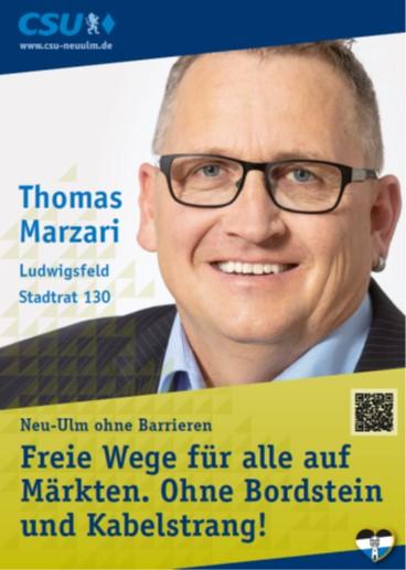 Thomas Marzari, Ludwigsfeld – seine Ziele