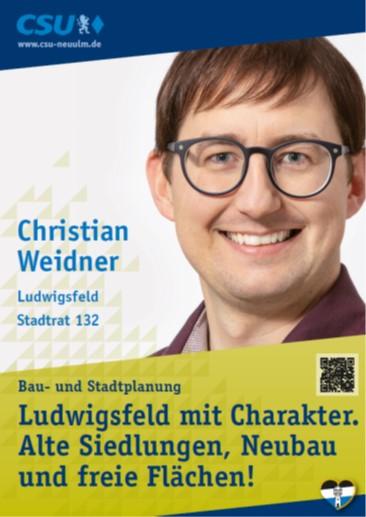 Christian Weidner, Ludwigsfeld – seine Ziele