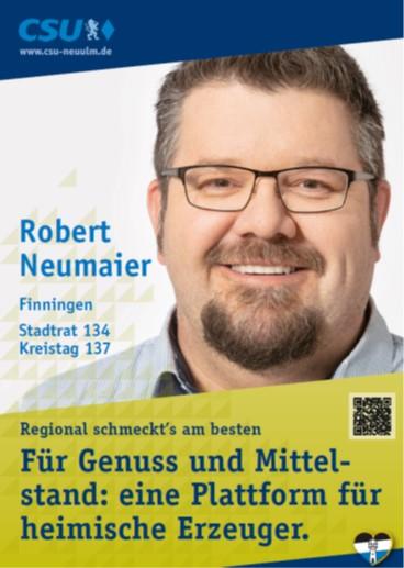 Robert Neumaier, Finningen – seine Ziele