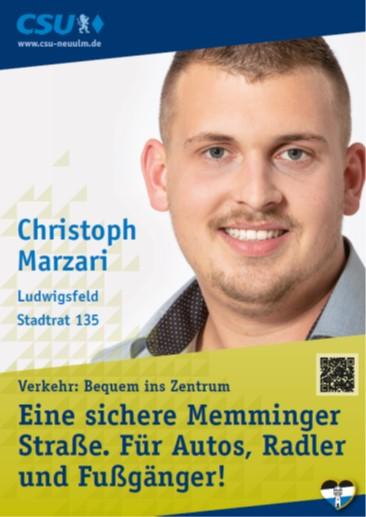 Christoph Marzari, Ludwigsfeld – seine Ziele