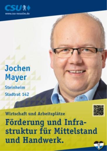 Jochen Mayer, Steinheim – seine Ziele