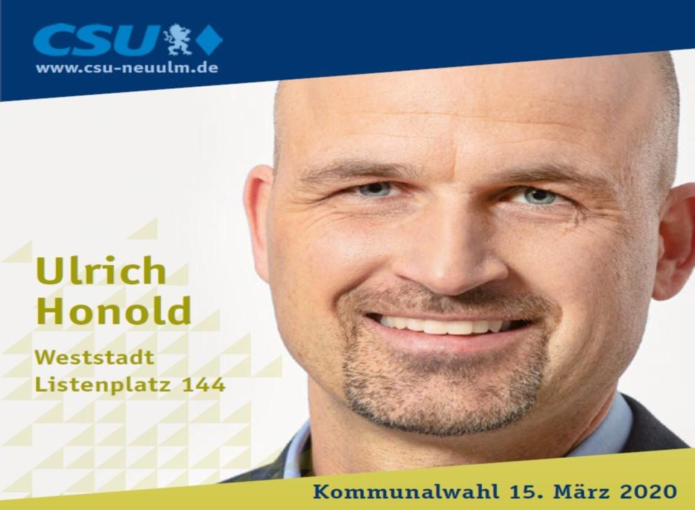 Ulrich Honold, Weststadt – seine Ziele