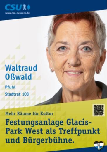 Waltraud Oßwald, Pfuhl – ihre Ziele
