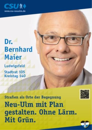 Dr. Bernhard Maier, Ludwigsfeld – seine Ziele