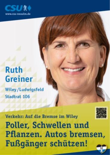 Ruth Greiner, Wiley – ihre Ziele