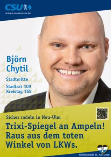 Björn Chytil, Stadtmitte – seine Ziele
