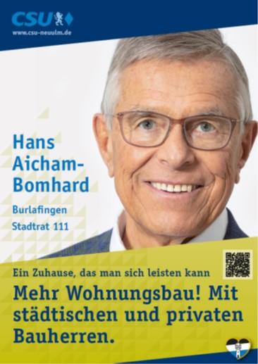 Hans Aicham-Bomhard, Burlafingen – seine Ziele
