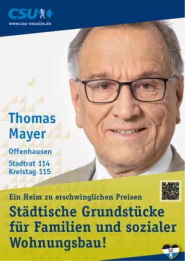 Thomas Mayer, Offenhausen – seine Ziele