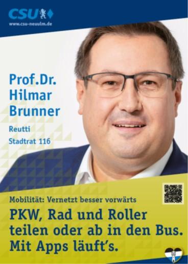 Prof. Dr. Hilmar Brunner, Reutti – seine Ziele
