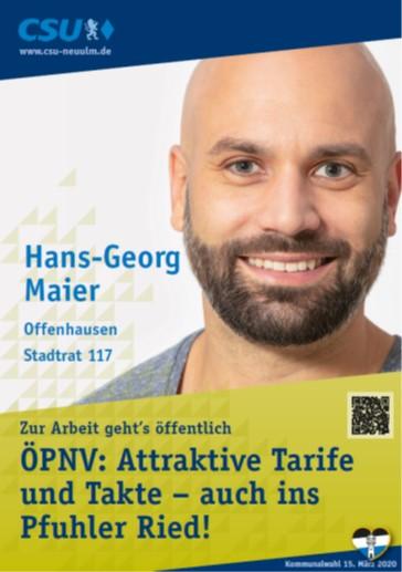 Hans-Georg Maier, Offenhausen – seine Ziele