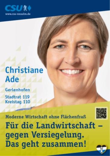 Christiane Ade, Gerlenhofen – ihre Ziele