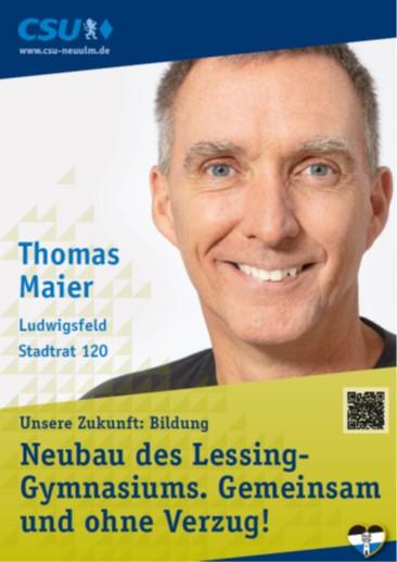 Thomas Maier, Ludwigsfeld – seine Ziele