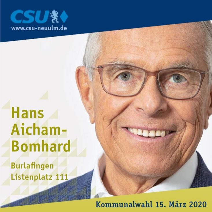 Hans Aicham-Bomhard, Burlafingen – seine Ziele im Film
